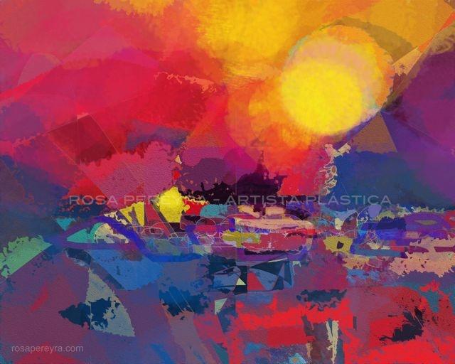 Atardecer - Abstracto