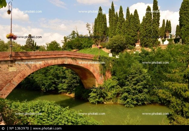 rieux-volvestre. the bridge over the arize Lajous ro. Upper Garonne. France