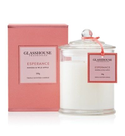 GlassHouse Candles Esperance Mimosa and Wild Apple