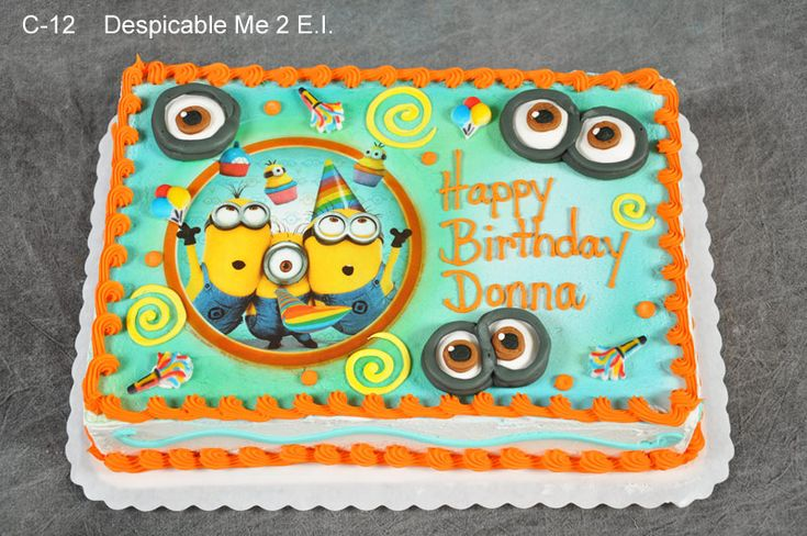 Despicable Me First Birthday Cake