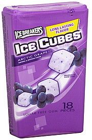 Ice Breakers, Ice Cubes, Arctic Grape, sugar free gum - Anna's favorite gum she gets from Auntie Aryn!