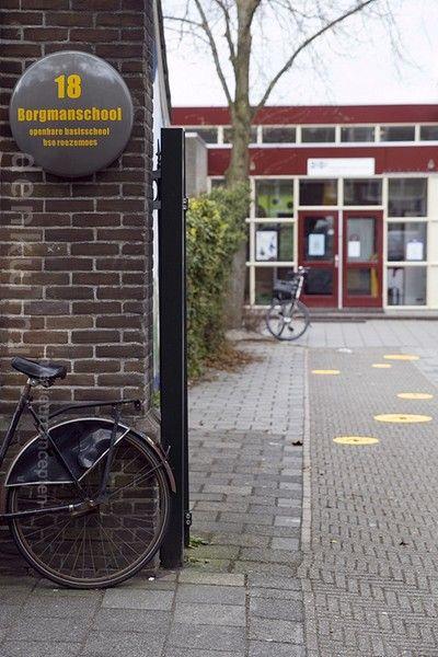 Nameplate school [typography by Discoo]. Design: Denk Ruim Over Interieur. Photography: Gea Schenk