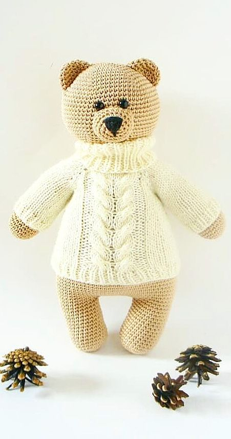 24 New And Attractive Amigurumi Doll And Animal Pattern Ideas. Crochet Bear Toy. Web Page 15