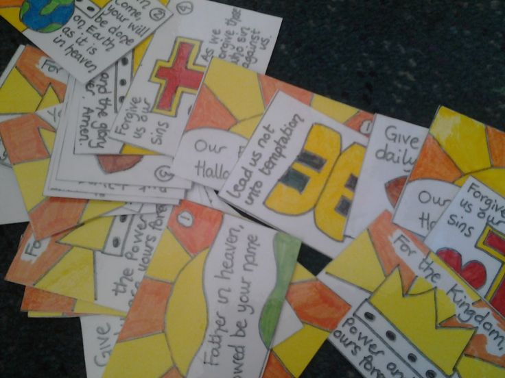 Flame: Creative Children's Ministry: Lord's Prayer Cards