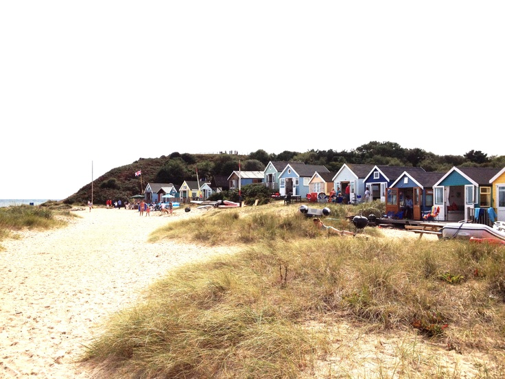 Mudeford beach huts.