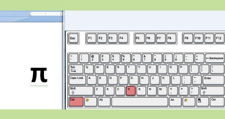 How to Type the Pi Symbol on a Mac-- via wikiHow.com