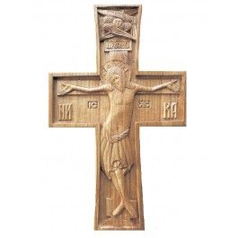Wooden Cross, $150.00, catalog of St Elisabeth Convent. Made to order.  #crucifix #cross #church #icon #orthodox #life #God #Jesus #Christ #faith #love #handmade #catalogofgooddeed #ordericon #buyicon #christianity #messiach #wood  #carving