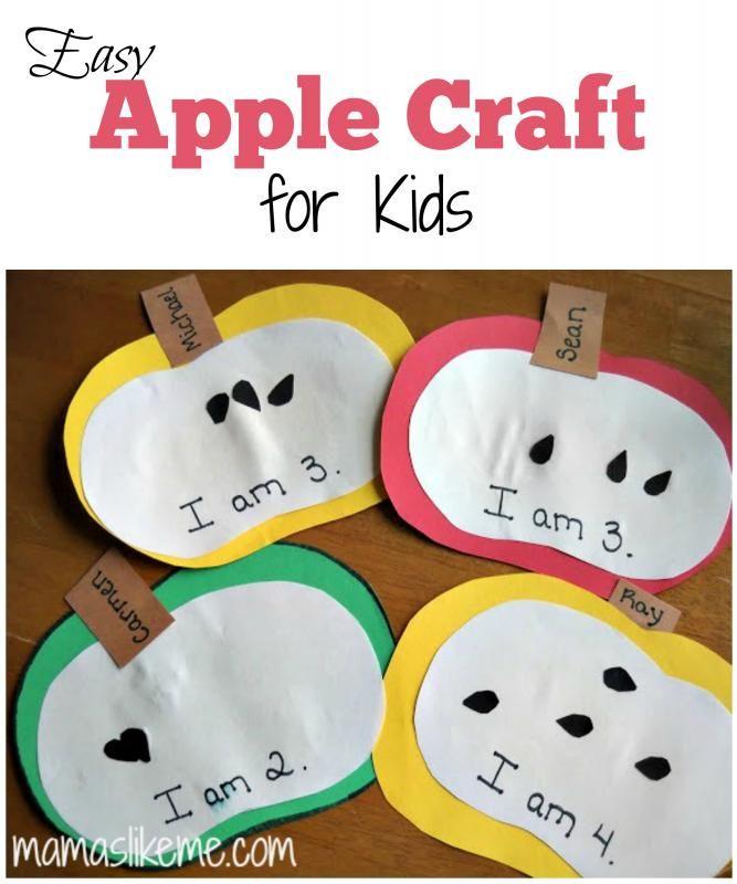 {Mamas Like Me} - Easy Apple Craft for Kids #Fall #preschool