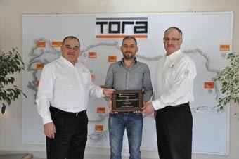 "UPP TORA'YA ÖDÜL VERDİ! Franklin Fueling Systems,  Tora'ya ""Seçkin Distribütör"" ödülü verdi."