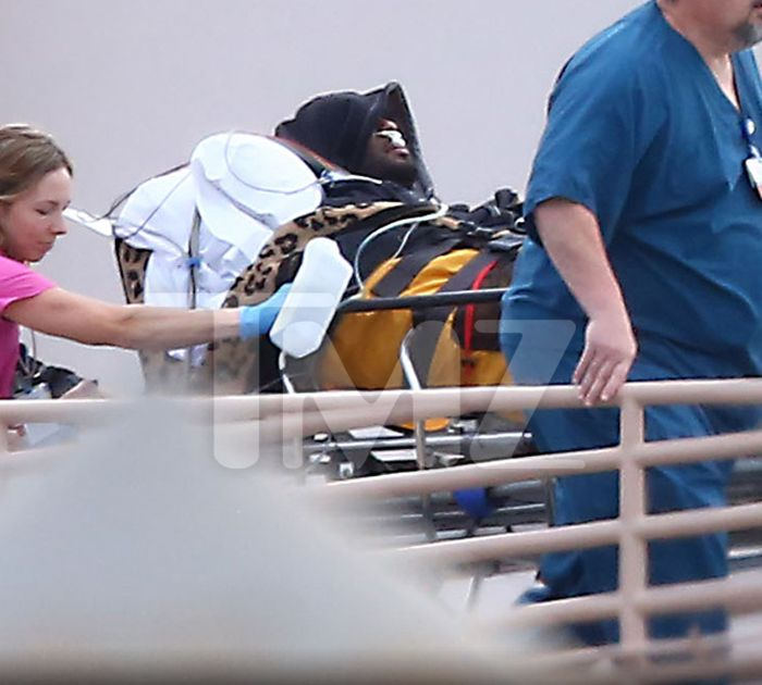 Lamar Odom's condition is graphically illustrated by these photos which show him hooked up to various machines as he was wheeled into Cedars-Sinai…