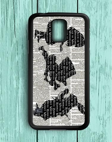 Alice And Friend Silhouettes Samsung Galaxy S5 Case