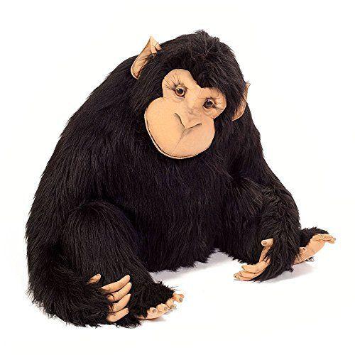 Schimpanse-Riesen-Kuscheltier-sitzend-100-cm-Gesamtlnge-125-cm-Plschtier-von-Steiner-handgefertigt-in-Deutschland-XXL-Kuscheltier-0