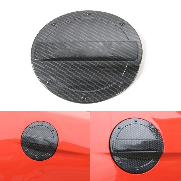 BBQ@FUKA 1pc ABS Black Car Fuel Tank Gas Cap Lid Cover Trim Car-styling Sticker Fit For Ford Mustang 2015 2016 Car accessories #Affiliate