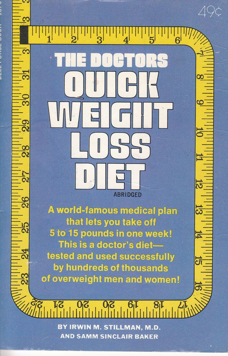 The Doctors Quick Weight Loss Diet by Irwin M. Stillman / Dell Purse books 1968