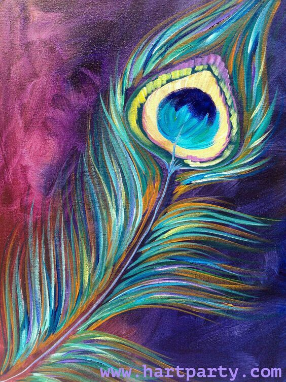 Best 25 painting of peacock ideas on pinterest peacock for Painting feathers on canvas