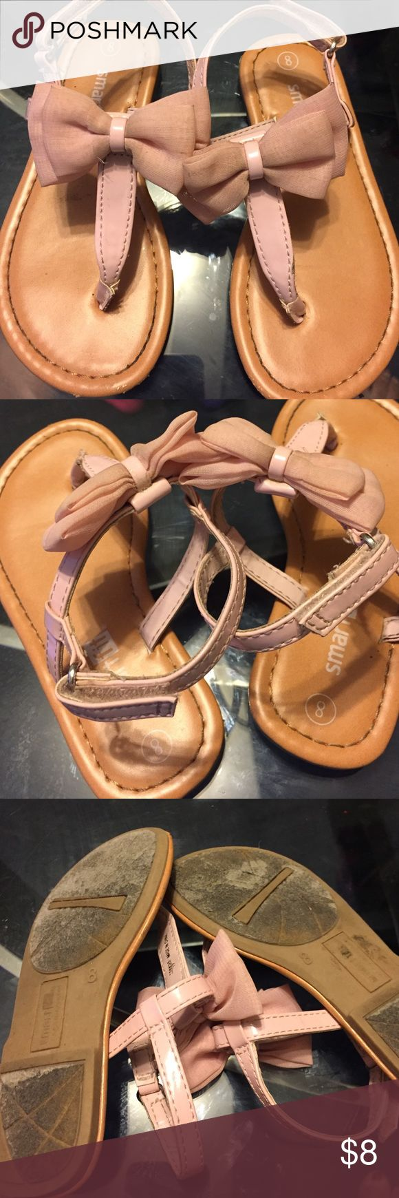 Sandals for toddlers cute pink with bow Size 8 toddlers sandals for sale the bow is a little dirty but water will wash the dirt away very good conditions smartfit Shoes Sandals & Flip Flops