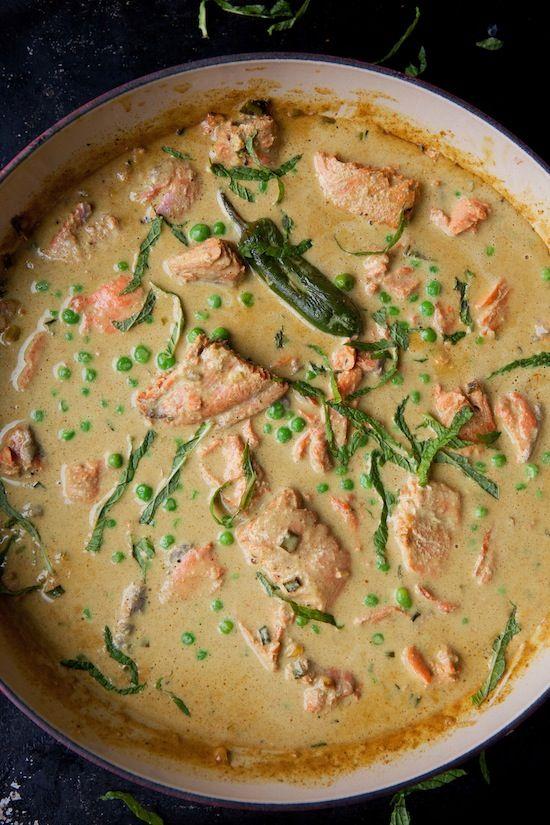 Thai curried salmon
