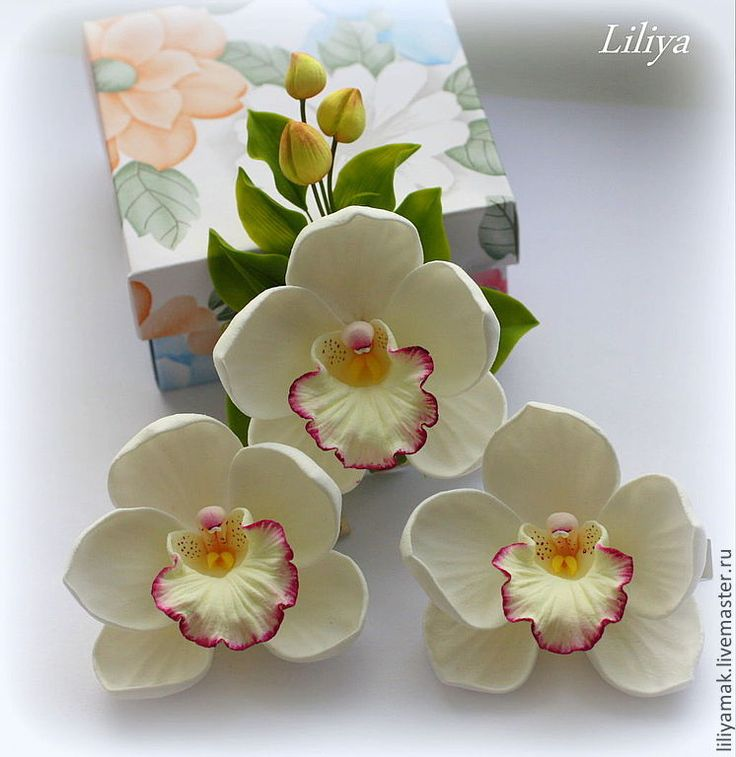 Купить Орхидеи для украшения прически - орхидея, орхидеи, заколка для волос, заколка с цветами