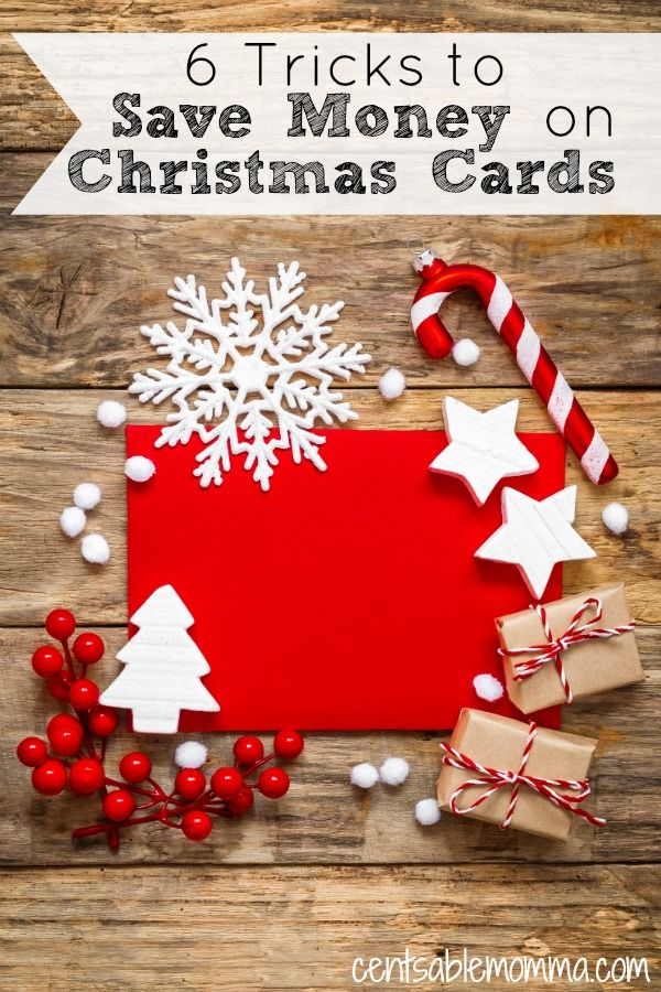 6 Tricks to Save Money on Christmas Cards | Pinterest | Christmas ...