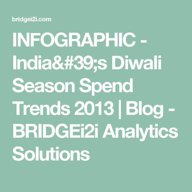 INFOGRAPHIC - India's Diwali Season Spend Trends 2013 | Blog - BRIDGEi2i Analytics Solutions