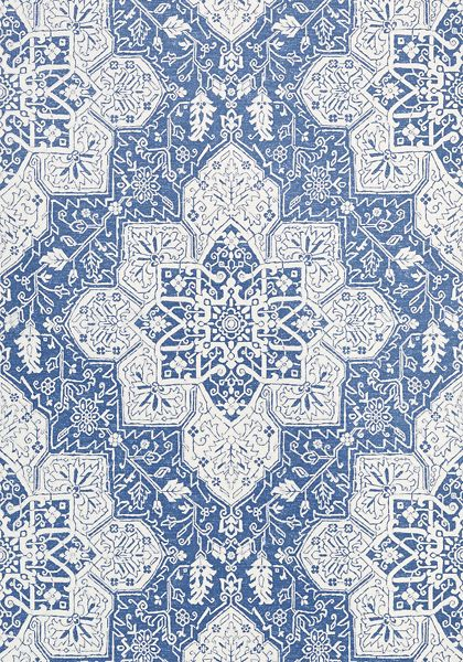 Kitchen paper. Finally yay. TARRAGON, Blue, T64121, Collection Caravan from Thibaut
