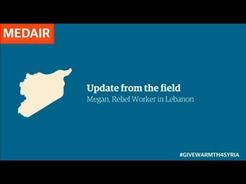 #SyriaCrisis Video Blog - Episode 2. This week, Relief Worker Megan, talks about the winter approaching and what #Medair is doing to help #Syria refugees prepare for winter.