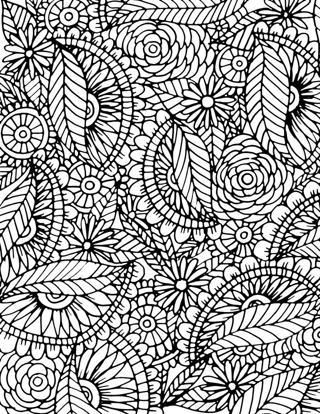 Stunning Advanced Coloring Book