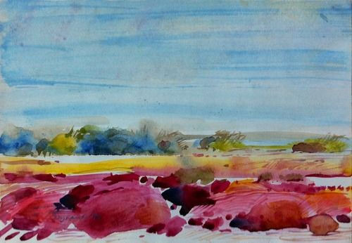 Wynand Smit Snr Artist / Architect - love this example of dad's colour blindness, amazing looking at his other watercolours how incredibly talented he was.