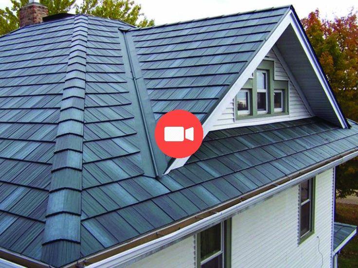Metal Roofing Metalroof Metalroofideas Metalhouseroof Metalroofcolors Metal Roof Steel Shingles Metal Roof Colors