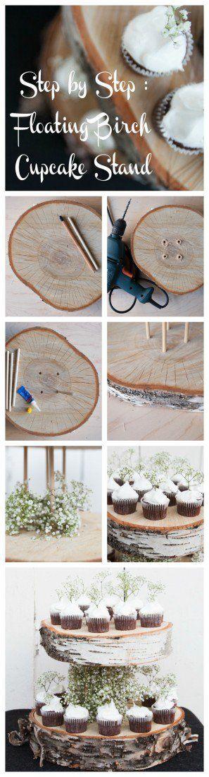 DIY Floating Birch Cake Stand - Rustic Wedding Chic
