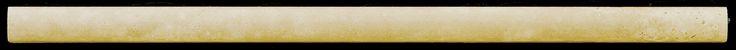 "Natural Stone 12"" x 1"" Tumbled Travertine Mini Cigaro in Ancient Beige"