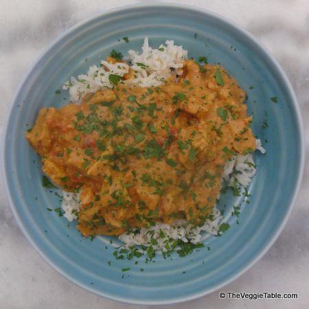 Mock Lamb Curry #Indian #Vegetarian #Seitan
