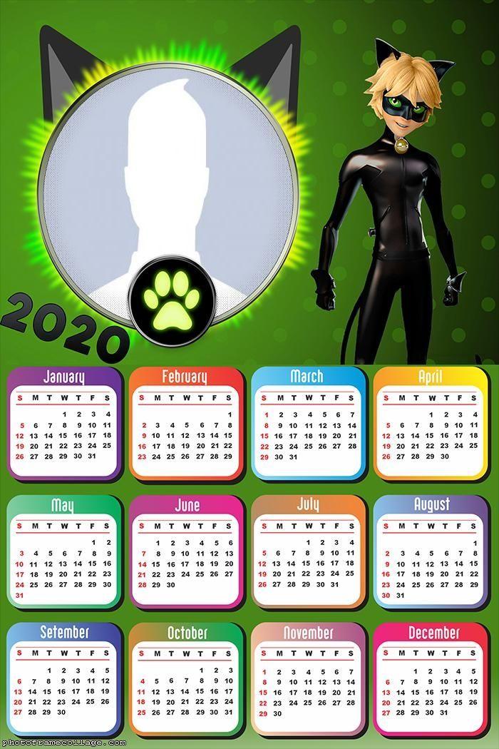 Cat Noir Calendar 2020 Photo Frame Photo frame design