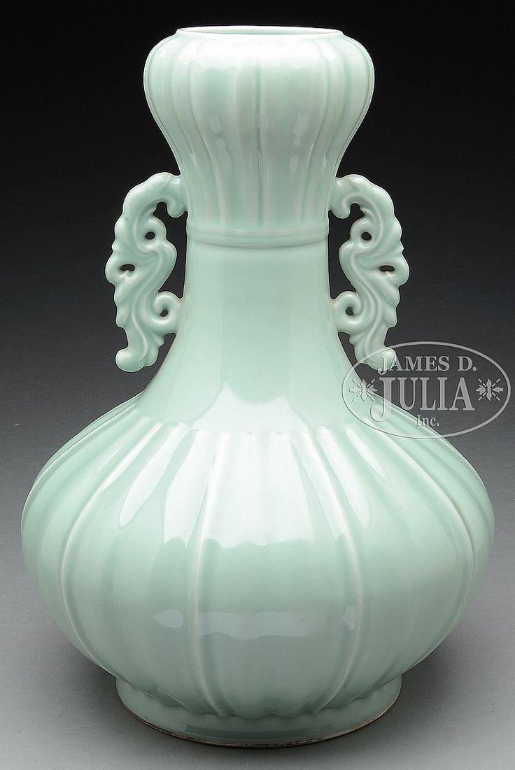 137 best celadon images on pinterest porcelain auction and large celadon vase china 20th c the large lobated vase has garlic mouth reviewsmspy