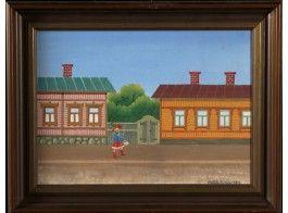 Veikko Sirén: Turun tyttö, 1983, öljy levylle, 30x40 cm - Hagelstam