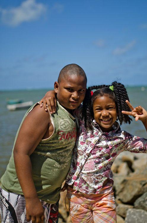 Kids at Grand Baie, Mauritius