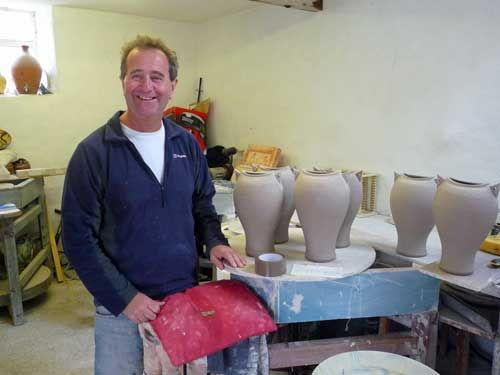 St Ives Potter Adrian Brough in his studio