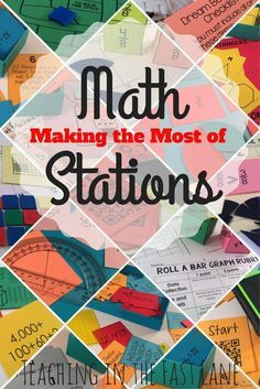 Math stations or math centers are found in almost every classroom, but do you feel that you are getting everything they are worth out of them? Follow these steps to ensure that your students are engaged, learning, and mastering tough concepts through the