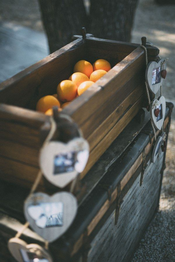 Crate Decor Rustic Outdoor Croatia Destination Wedding https://www.facebook.com/LiliZanetaPhotography https://www.facebook.com/AnteaMrcelaPhotography