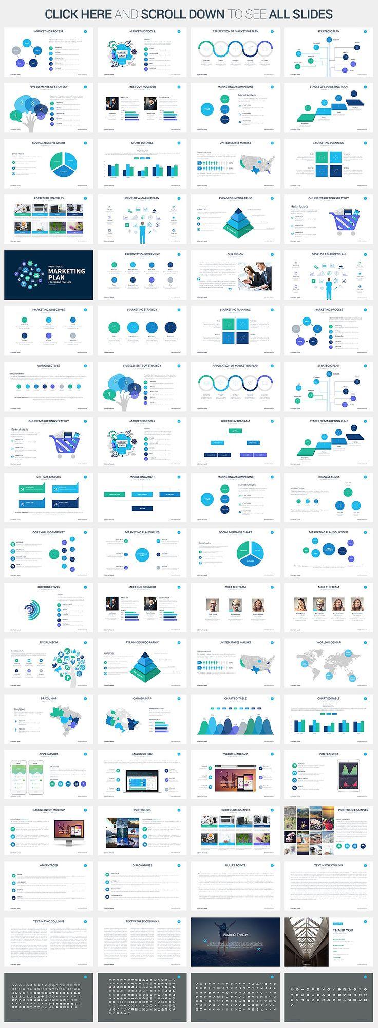 Marketing Plan - Keynote Template by SlidePro on @creativemarket