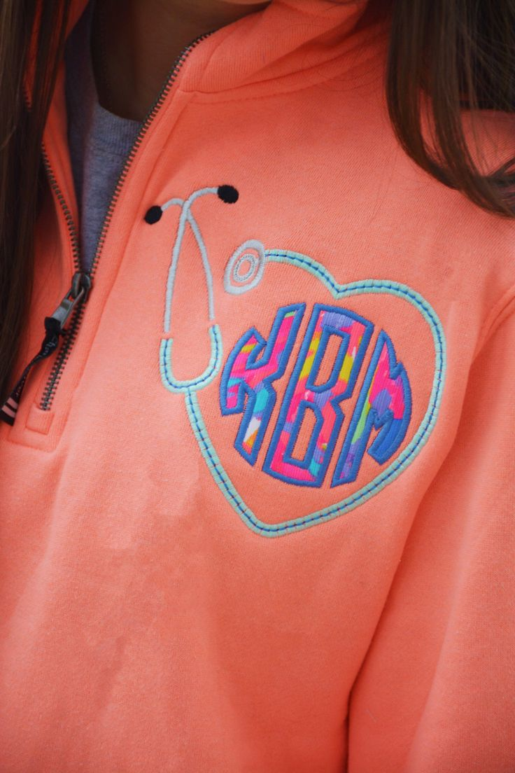 Lilly Pulitzer Monogrammed Stethoscope Quarter Zip Pullover Sweatshirt by TantrumEmbroidery on Etsy