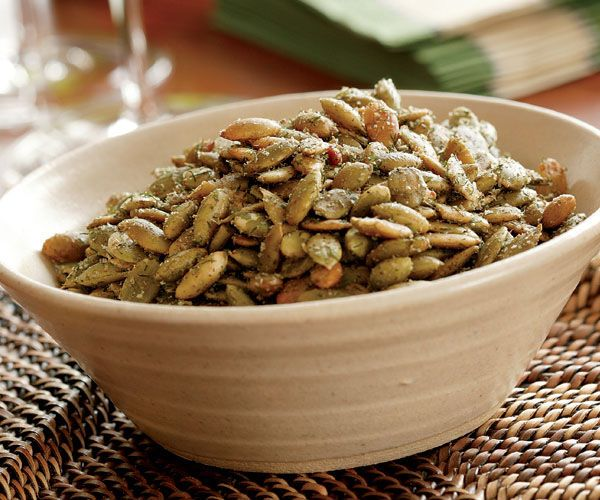 Crunchy Roasted Pepitas Recipe  ( fresh pumpkin seeds)