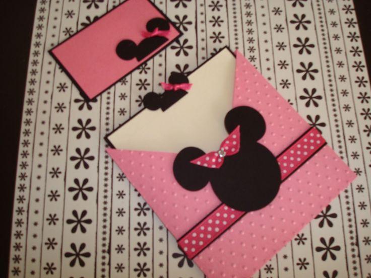Tarjetas de invitacion mickey mouse invitaciones epvendedo - Manualidades minnie mouse ...