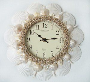 1000 images about shell decor on pinterest crafts for Seashell clock