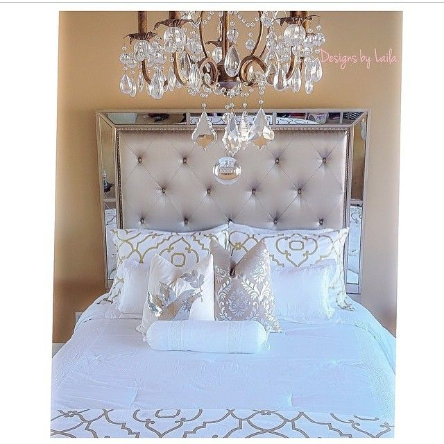 """""""How chic is this room created by @designsbylaila for her daughter? All pillows and sheets: @homegoods  Bed: @zgallerie"""""""