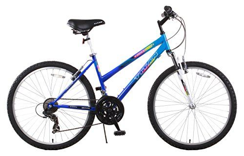 Titan Trail 21-speed Suspension Womens Mountain Bike 17-Inch Frame Blue For Sale