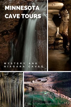 Discover underground caves in Southern Minnesota. Tour Mystery Cave and Niagara Cave featuring an underground waterfall. Both are nearby the top bed and breakfast town of Lanesboro, MN.