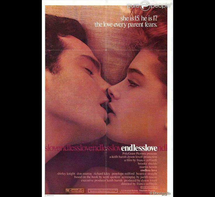 Brooke Shields estrelou o filme 'Amor sem fim' em 1981, logo após ser lançada nos cinemas em 'A Lagoa Azul'