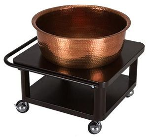 """Copper Pedicure Bowl - Or stainless steel set inside """"rusted""""(painted to look aged) """"copper"""" bowl."""
