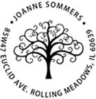 Tree Return Address Rubber Stamp